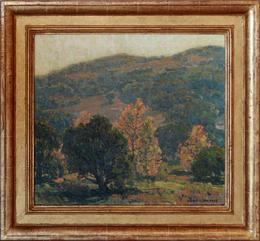 "Edgar Payne ""Morning in the Canyon, Topanga"" 18 x 20 inches, oil on canvas! Private Collection"